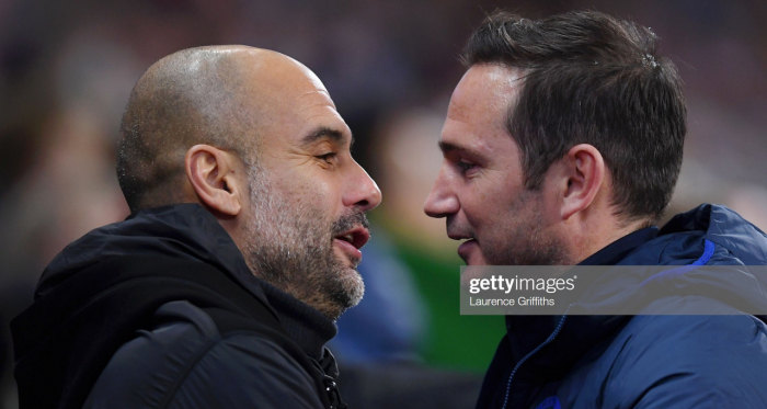 Frank Lampard earns high praise from Pep Guardiola