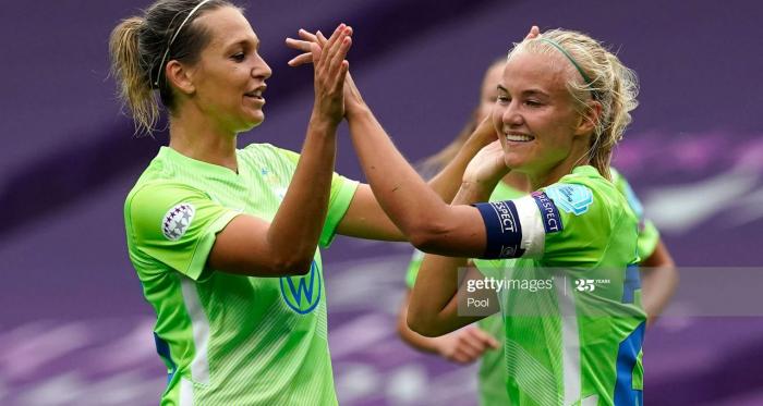 Glasgow City FC 1-9 Vfl Wolfsburg: Harder scores four as Wolves set aside the Scottish champions