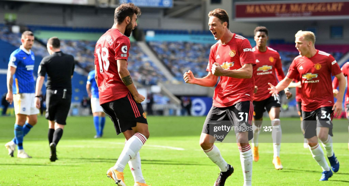 Brighton & Hove Albion 2-3 Manchester United: Fernandes spot on after late drama