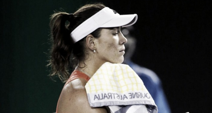 Muguruza will be disappointed with the manner of her exit (pic source: SI Tennis)