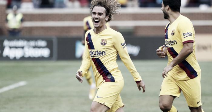 El Barça marca goles por inercia ante el Nápoles