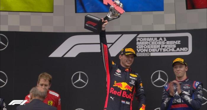 F1 - Un folle GP di Germania - Verstappen vince su un Vettel in rimonta. Terzo a sorpresa Kvyat