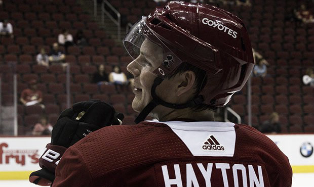 """<div style=""""text-align: start;"""">Barrett Hayton has made an impression with the Coyotes and will be in the NHL. 