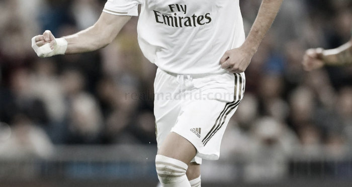 Benzema celebra su tanto/ Foto: Real Madrid C.F