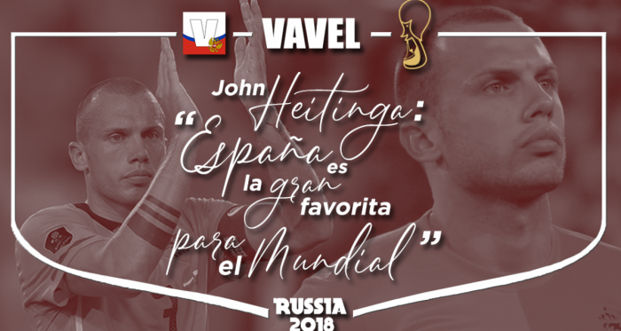 """Entrevista a John Heitinga: """"España es la principal favorita para el Mundial"""""""