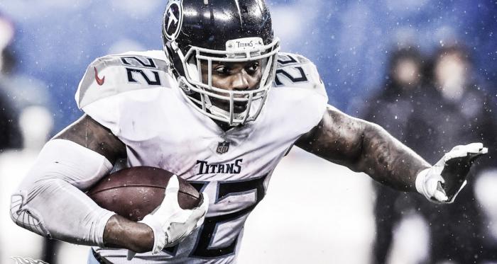 Derrick Henry, corredor titular de Tennessee Titans los uno de los aspirantes a conseguir la sexta colocación en la AFC (foto Titans)<div><br></div>