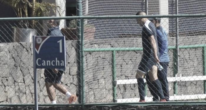 Aguilar salió lesionado hoy I Foto: Prensa ESTO