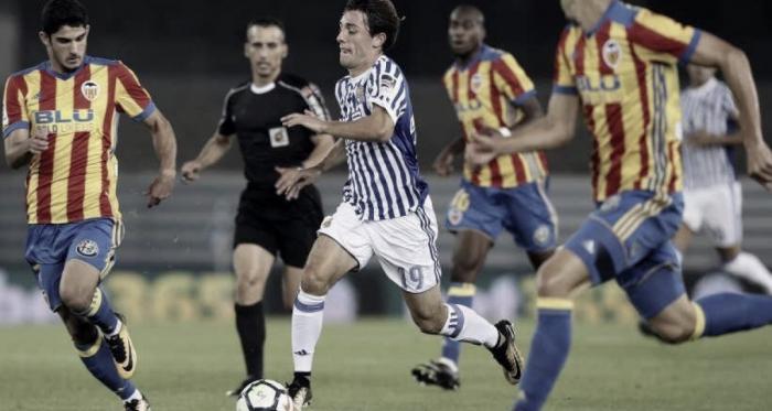 Odriozola jugando con el Real Sociedad | Foto: Prensa LaLiga