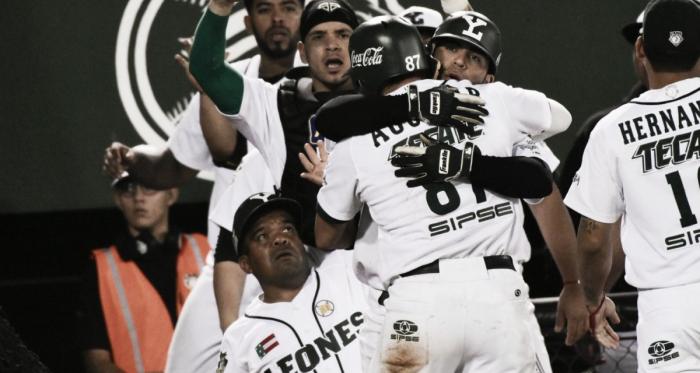 Sosa anotó la carrera definitoria del juego | Foto: Cortesía Leones de Yucatán