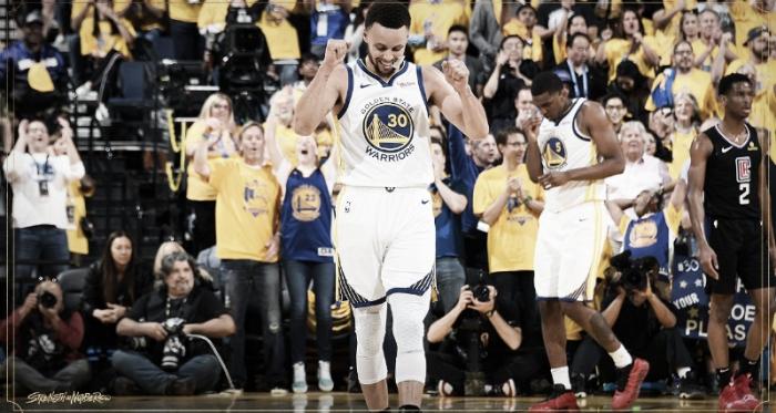 Steve Curry es el máximo anotador de triples en playoffs. Foto: Strenght off Numbers
