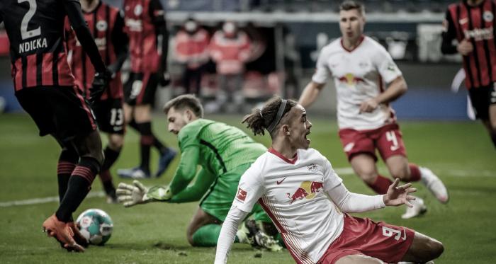 RB Leipzig busca empate com Eintracht Frankfurt, mas perde chance de colar na liderança