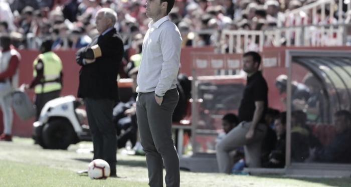 Rubi durante el partido en Montilivi. Foto: RCD Espanyol