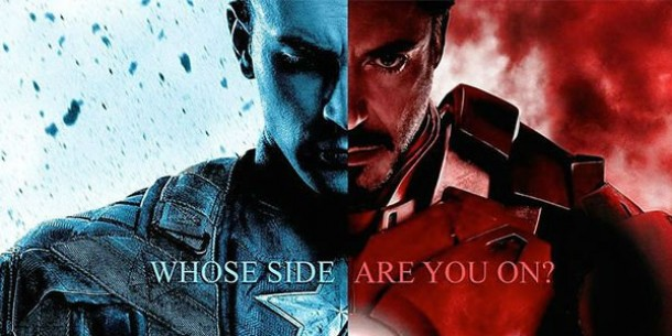 "Captain America vs Iron Man. image source ""cdn.wegotthiscovered.com"""