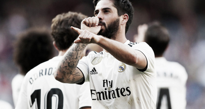 Isco celebra su gol / Foto: Real Madrid C.F.