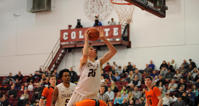 <div>Rapolas Ivanauskas leads top seed Colgate into the Patriot League tournament/Photo Bob Cornell/Colgate athletics</div>