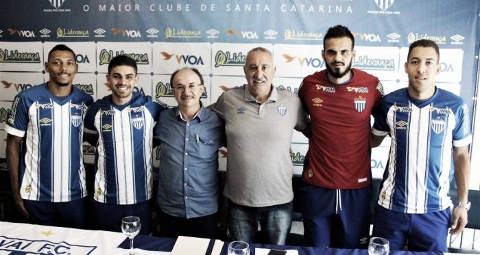 Alex Silva, Gegê, Frigeri e Julinho são os primeiros reforços do clube para 2019 (Foto: André Palma Ribeiro/Avaí F. C.)