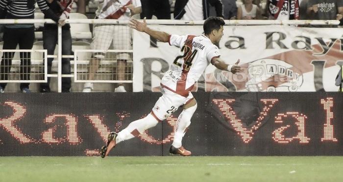 Javi Guerra celebrando un gol | Fotografía: Rayo Vallecano S.A.D.