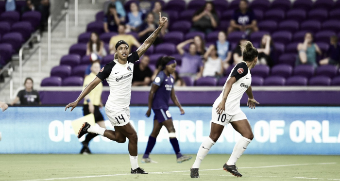 Jess McDonald was the star for the Courage against Orlando | Source: ISI Photos via nwslsoccer.com