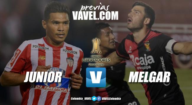 Previa Junior de Barranquilla vs Melgar: en Libertadores, buscando por un cupo a Sudamericana