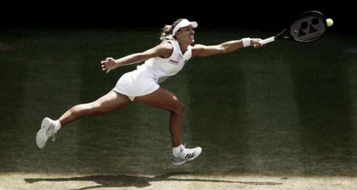 Angelique Kerber durante la final del torneo de Wimbledon 2018. Foto: zimbio.com