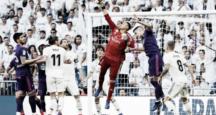 Keylor Navas en el partido ante el Real Madrid y el Celta | Foto: www.realmadrid.com