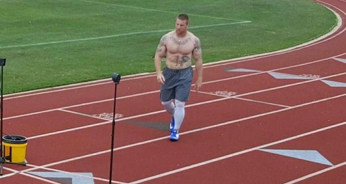 Kile Willett during training. Photo Source: Kile Willett