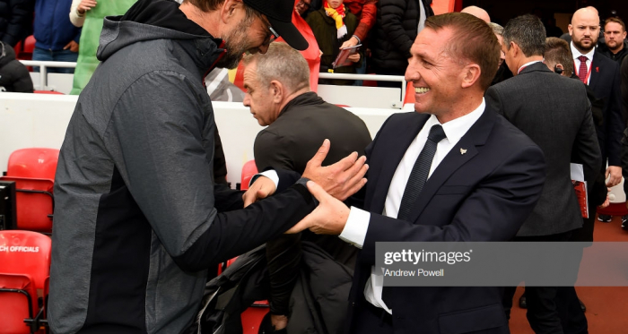 Liverpool beat Brendan Rodgers' Leicester City last weekend to continue their perfect start in the Premier League (Andrew Powell/Getty Images)