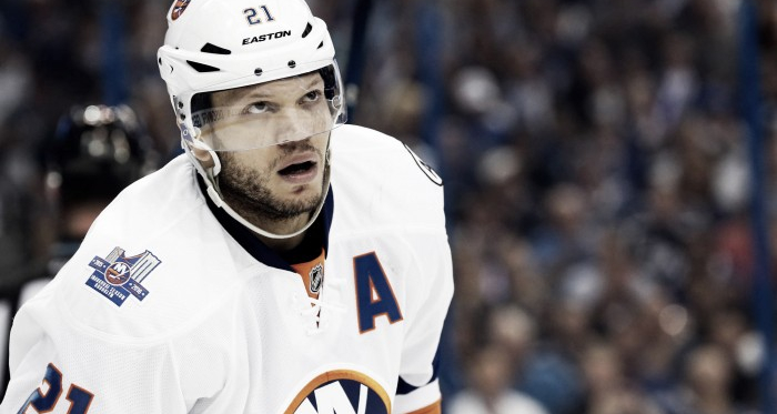 Winger Kyle Okposo was an alternate captain for the New York Islanders. Kim Klement - USA TODAY Sports
