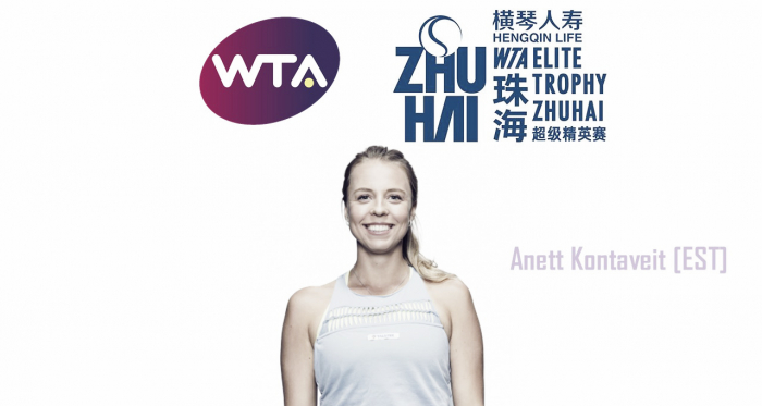 Anett Kontaveit will look to cause some waves in Zhuhai   Edit: Don Han
