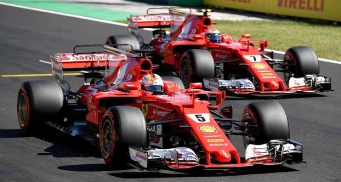 Sebastian Vettel s'impose sur le Hungaroring