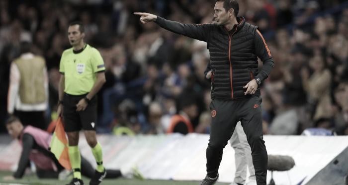 """Lampard lamenta tropeço, mas visa sequência na Champions: """"Temos mais cinco jogos"""""""