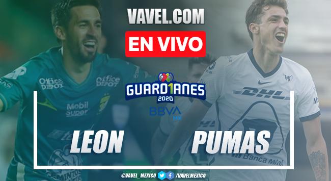 Goles y resumen del León 2-0 Pumas en la jornada 11 del Guardianes 2020