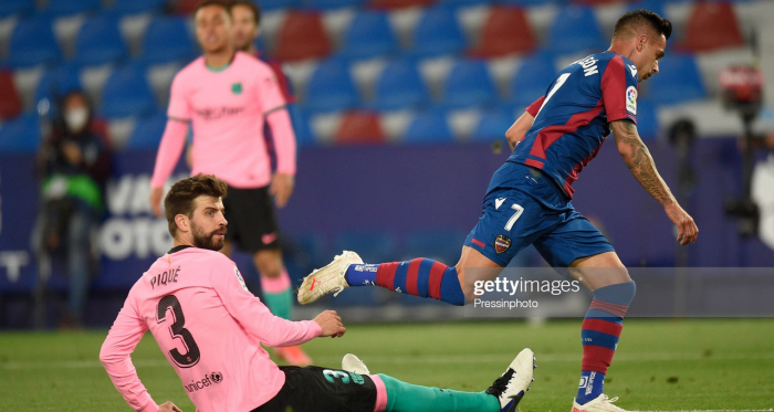 Levante 3-3 Barcelona: Barcelona self-dent their title hopes to draw at the Estadio Ciudad de Valencia