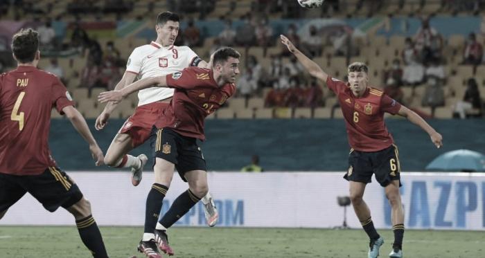 Lewandowski marca e tira a vitória da Espanha na Eurocopa 2020 em Sevilla