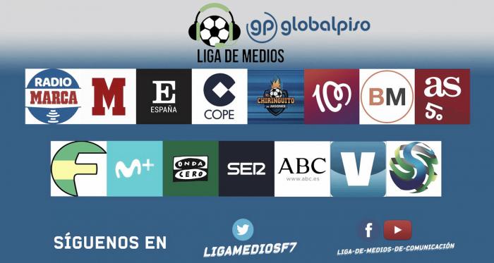 Equipos participantes de la liga. Fuente: Liga de Medios Globalpiso.