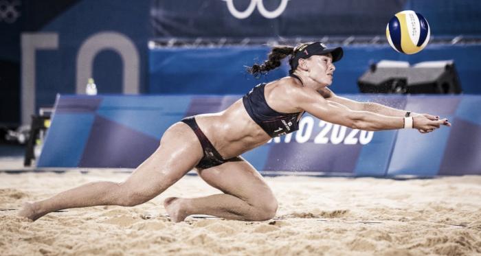Team USA 2-0 Spain Women's Beach Volleyball in Tokyo 2020
