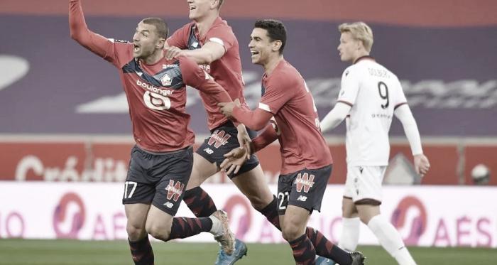 Sem ceder uma finalização sequer ao Nice, Lille vence e retoma liderança da Ligue 1