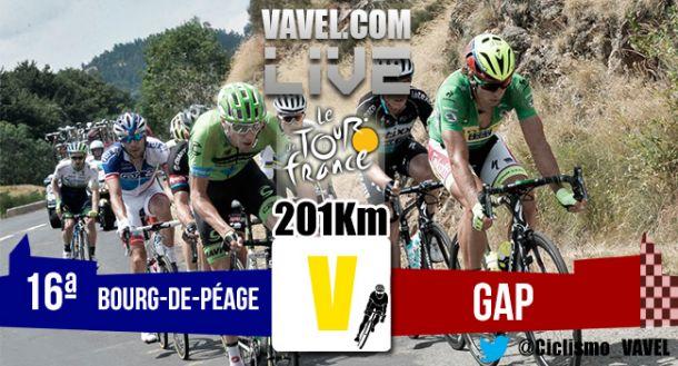 Resultado de la Decimosexta etapa del Tour de Francia 2015: Bourg-de-Péage - Gap