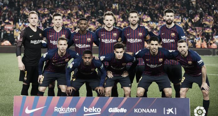 Plantilla del FC Barcelona // Foto: La Liga