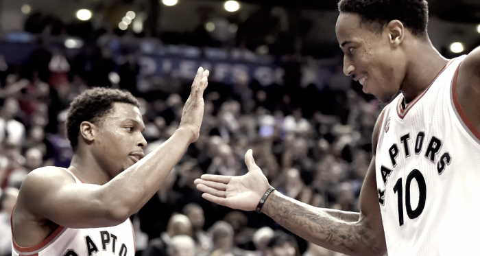 Toronto Raptors' Kyle Lowry and DeMar DeRozan arearguably one of the top backcourts in the NBA. Photo: Frank Gunn/The Canadian Press
