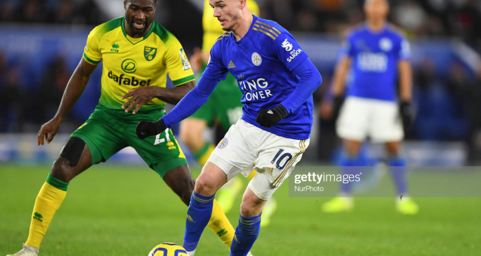 James Maddison during the Premier League match between Leicester City and Norwich City at the King Power Stadium, Leicester | Photo: NurPhoto/ Getty