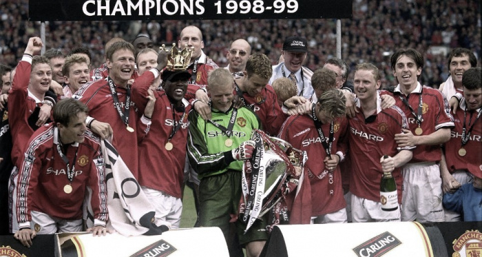 El histórico Manchester United campeón de la 1998/1999