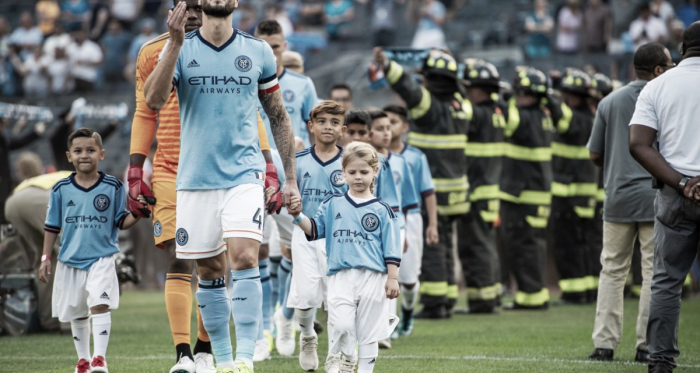 Maxime Chanot leading out his men. | Photo: New York City FC