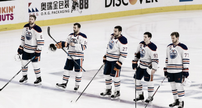Oilers in the playoffs (Courtesy of USA TODAY Sports, John Hefti)
