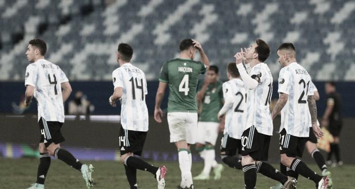 Em ritmo de treino, Argentina goleia Bolívia e agora pega o Equador na Copa América