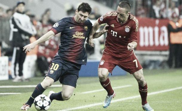 Messi y Ribery en el último cruce entre ambos que ganaría el francés   lavanguardia.com