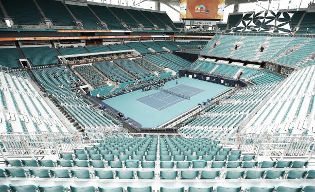 Vista panorámica de la pista central del Hard Rock Stadium. Foto: gettyimages.es
