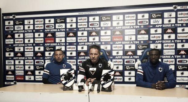 Conferenza stampa alla vigilia di Empoli-Sampdoria: Palombo, Mihajlovic e Obiang