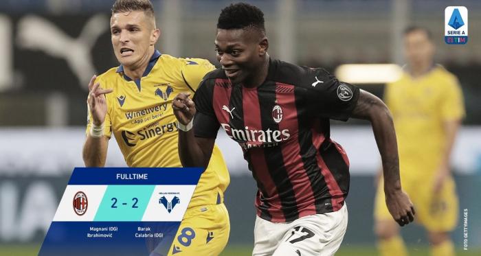 Serie A - Ibra croce e delizia: il Milan si salva al 93' con il Verona (2-2)