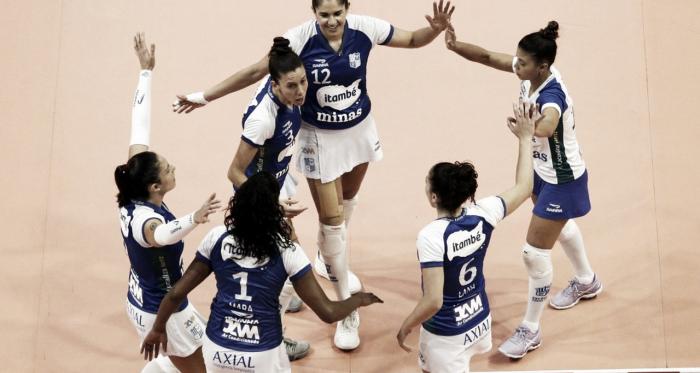 Minas vence Curitiba e termina fase classificatória na liderança da Superliga